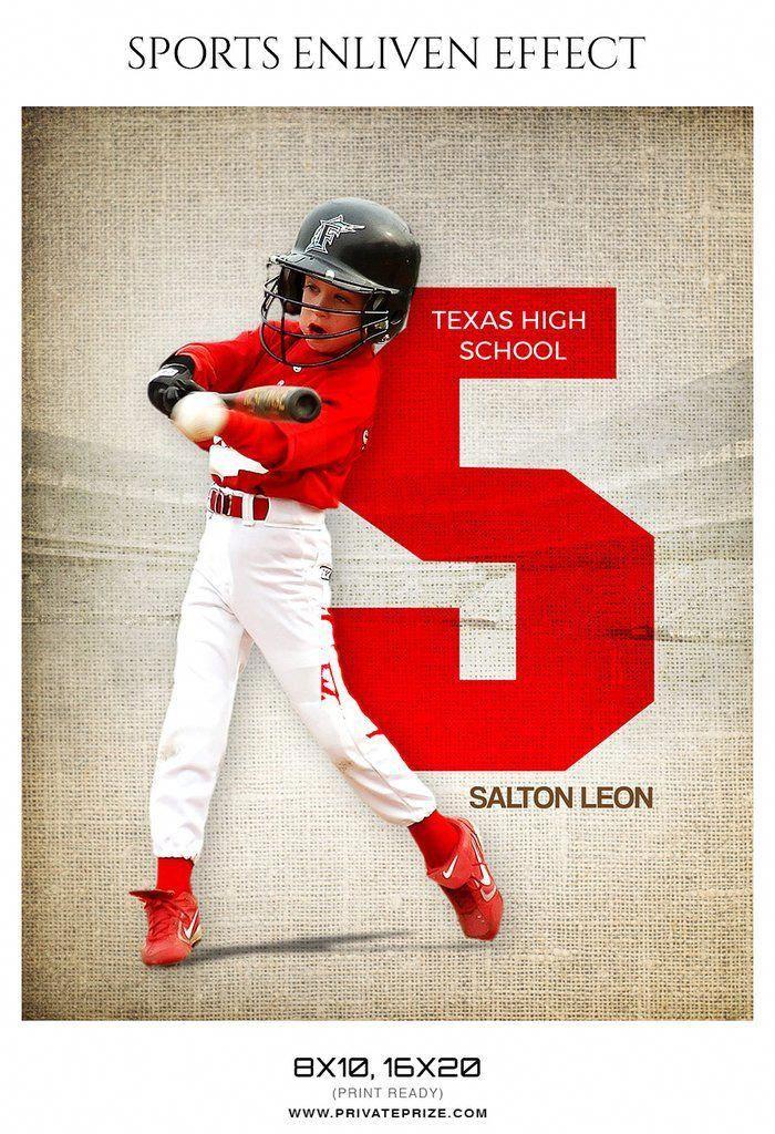 Salton Leon Baseball Sports Enliven Effect Photography Template Photoshopforbeginnerspictures In 2020 With Images Sports Photography Sports Baseball Sports