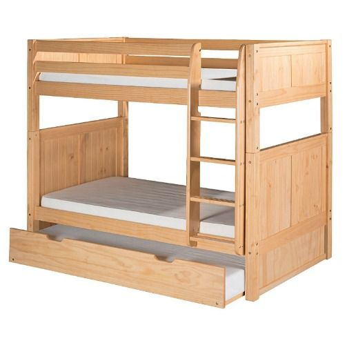 Camaflexi Solid Wood Bunk Bed With Trundle
