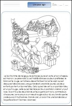 Lire pour agir: Noël CE1