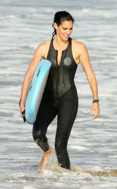 Daniela Ruah - The Cast Of 'NCIS: Los Angeles' Go Surfing