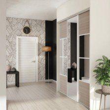 Porte de placard coulissante magnolia / miroir SPACEO l.67 x H.250 cm