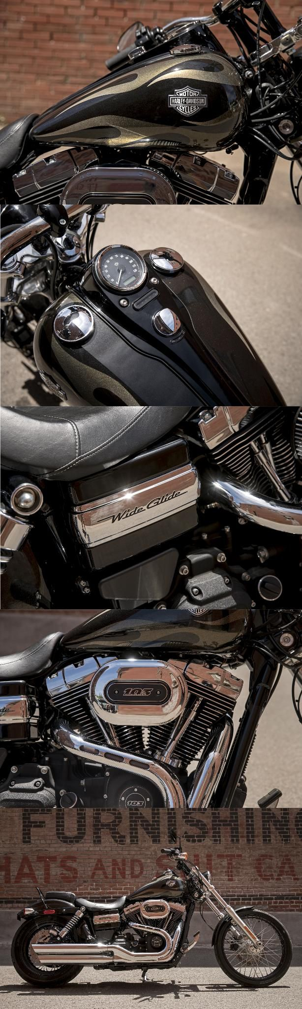 Modern day performance anchored in a style that's never backed down from authority. | 2017 Harley-Davidson Wide Glide