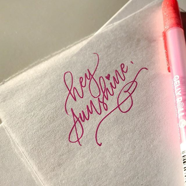 Hey sunshine please stay   (But windy weather go away ) . @sakuraofamerica jelly roll . . . . . . . . . . .  #ipadlettering #typespire #handmadefont #handletterer #goodtype @goodtype #thedailytype #typematters #calligrabasics #makersgonnamake #strengthinletters #script #learnlettering #typelove #creative #positivequotes #scriptlettering #designspiration #tyxca #handlettering #handmade #brushscript #flashesofdelight #thatsdarling #letteringchallenge  #handlettered #sakura #gelpen