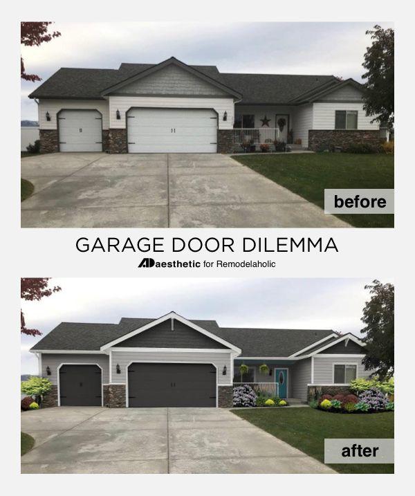 Pin Image Garage Doors Garage Door Makeover Garage Door Design