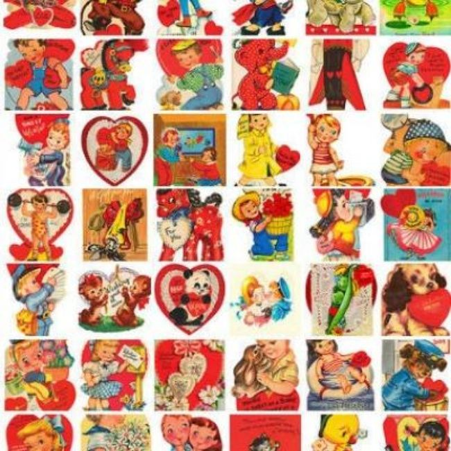303 best valentines day images – Vintage Valentine Cards to Print