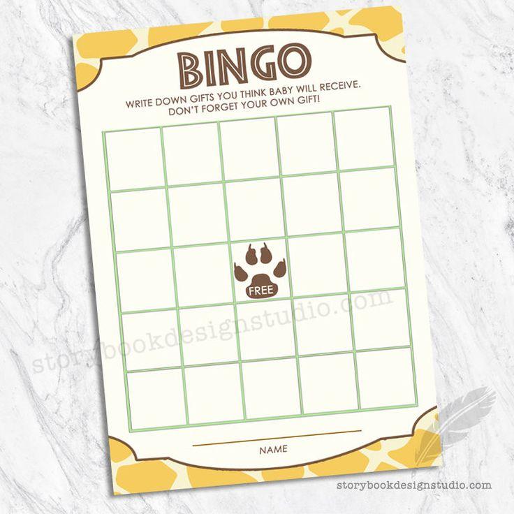 Lion King Simba Baby Shower Bingo Game Cards / Jungle Animal Theme DIGITAL  FILE