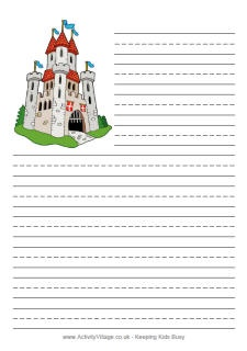 Free printable medieval themed writing papers