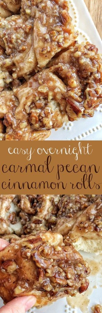 These easy overnight caramel pecan cinnamon rolls start with frozen bread dough! No yeast or rising to worry about. Simply prepare the cinnamon rolls the night before and bake up delicious, gooey, caramel pecan cinnamon rolls for a special breakfast treat
