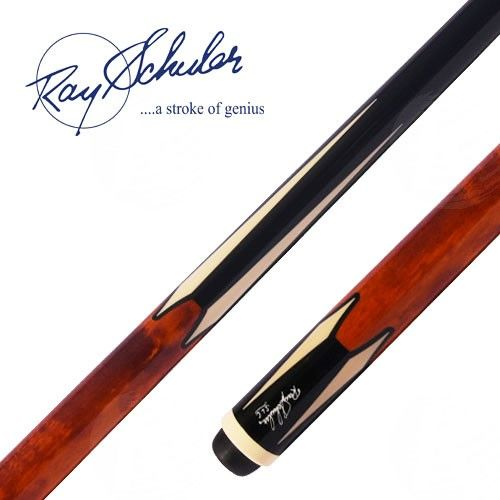 The Schuler CB15 3-Cushion billiard cue features a black painted foreard and…