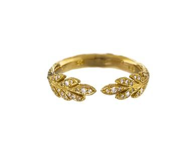 Cathy Waterman - Gold Open Leafside Band in Designers Cathy Waterman Rings at…