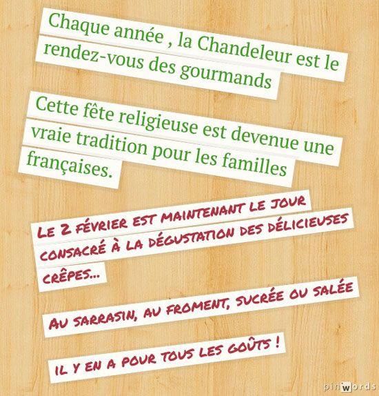 Activités CHANDELEUR -TICs en FLE - http://ticsenfle.blogspot.com.es/2014/01/la-chandeleur-quelques-activites.html