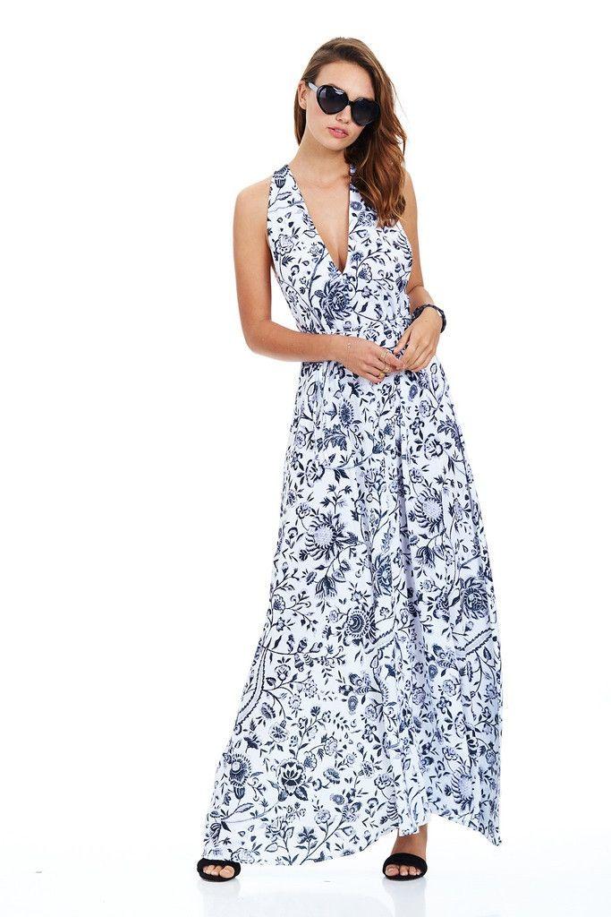Minty Meets Munt - Havana Print Cuba Maxi Dress