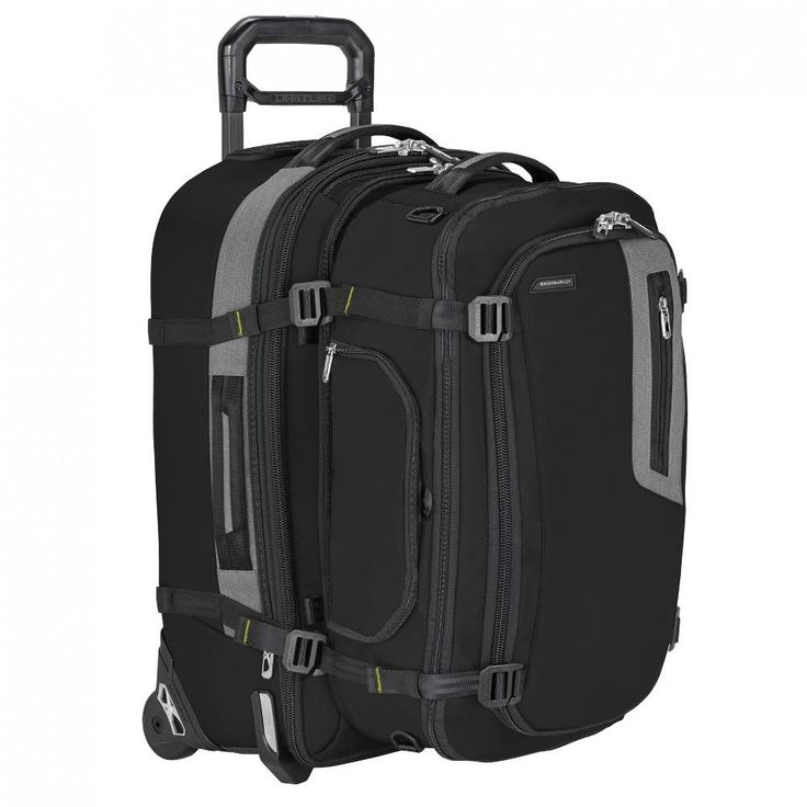 """Best Luggage For Serious Travel Briggs and Riley's Explore Domestic Expandable Upright (around $300); Exchange Large Duffle ($190). The compression system in action, complete with """"koala"""" hugging."""