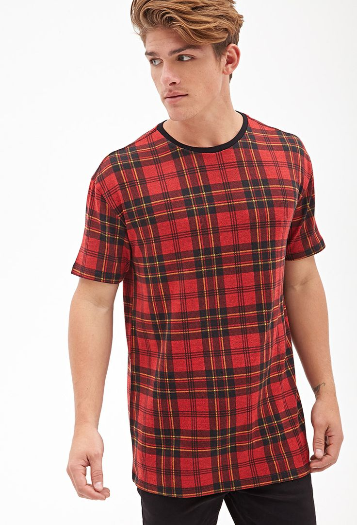 Buy Forever 21 Men's Red Plaid Print Tee, starting at $9. Similar products also available. SALE now on!