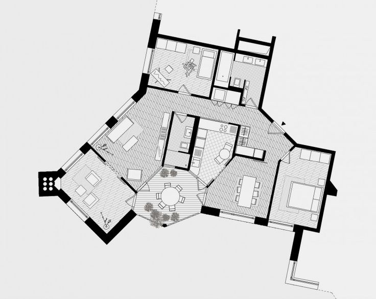Atelier Abraha Achermann Guggach II Grundriss wohnung