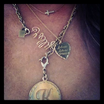 "love personalized jewelry.. my newest addition, ""Bless this Mess"" necklace from Riffraff: Gifts Ideas, Gift Ideas, Friends Kirsten, My Friends, Stylish Style, Style Ist, Necklaces Riffraff, Christmas Ideas"