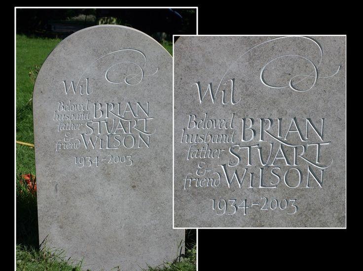15 best headstones images on pinterest lettering for Headstone lettering