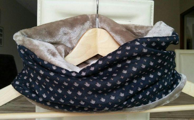Snood polaire doudou doux et voile coton : Echarpe, foulard, cravate par justinfil