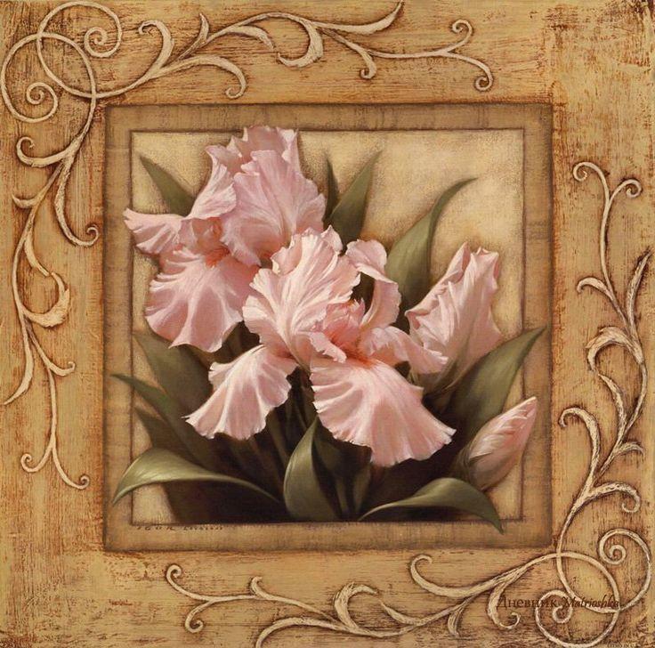 Схема вышивки «Розовые лепестки» - Вышивка крестом