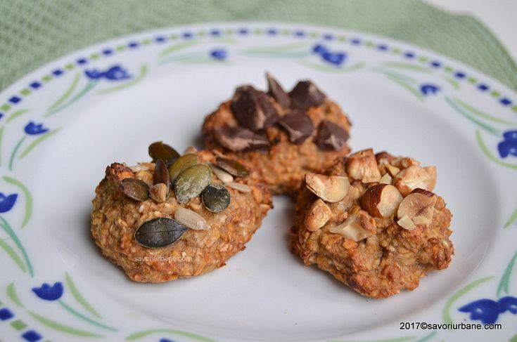 Fursecuri cu ovaz si banane - cookies fara zahar, din doar 2 ingrediente! Biscuiti sanatosi cu fulgi de ovaz (fara gluten), special ganditi pentru copii dar