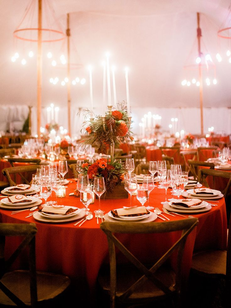 Exquisite table décor for the Jubilee Field Feast. #florals #tablesetting #lowcountry #reddecor #GardenandGun