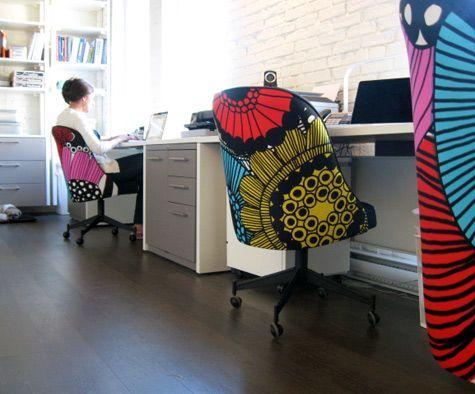 Marimekko Siirtolapuutarha office chairs