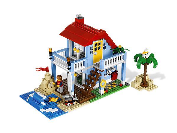 Build your 3-in-1 dream seaside home!  Lego seaside house kit. Len received this for Christmas, 2013.