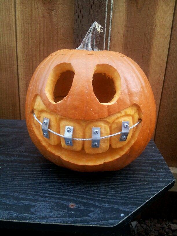 Pumpkin with braces diy dremel wire corner and