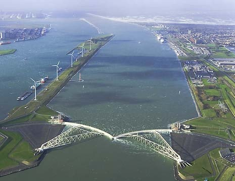One of the many waterworks in the Netherlands