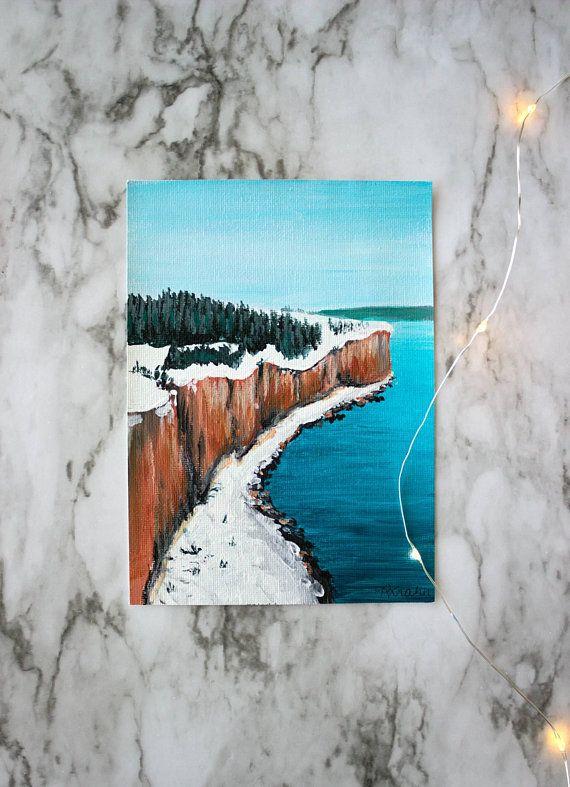 JOYFUL AND TRIUMPHANT Advent Series 5X7 painting on canvas