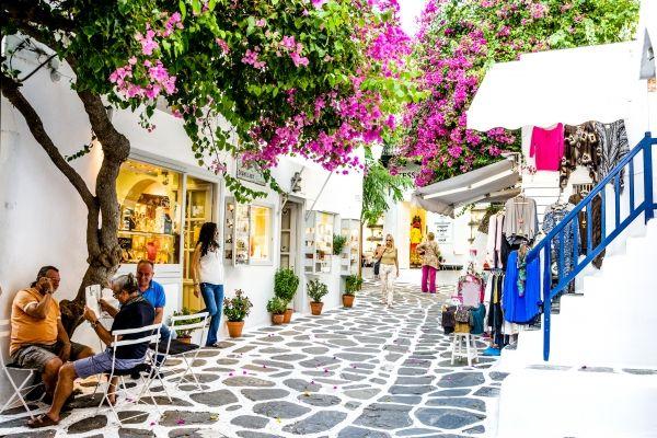 Inner street in Mykonos Town