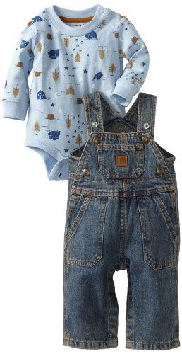 Joey has these!! Carhartt Baby-boys Infant Bib Overall Set