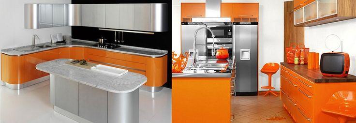 21 best cocinas integrales images on pinterest - Cocinas color naranja ...