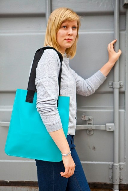 Southbank tote in turquoise