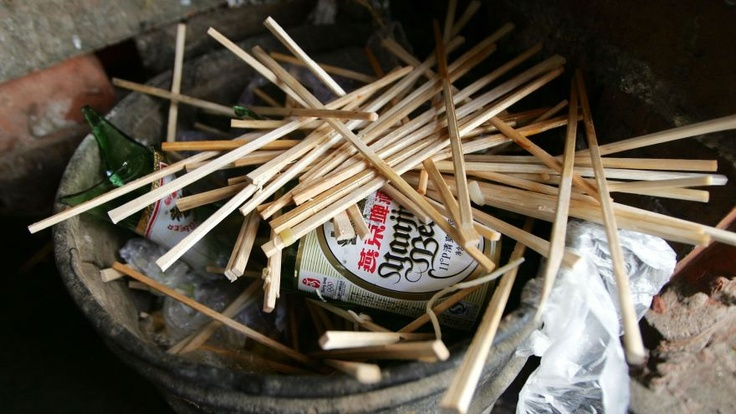 China makes enough disposable chopsticks in a year to cover Tiananmen Square 360 times