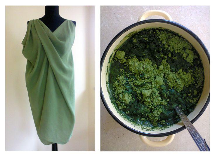 hand dyed silk dress by YOD