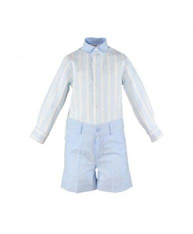 6ee2592d4 Conjunto de niño azul cielo Conjunto para niño desde la 2 años hasta 8 años.