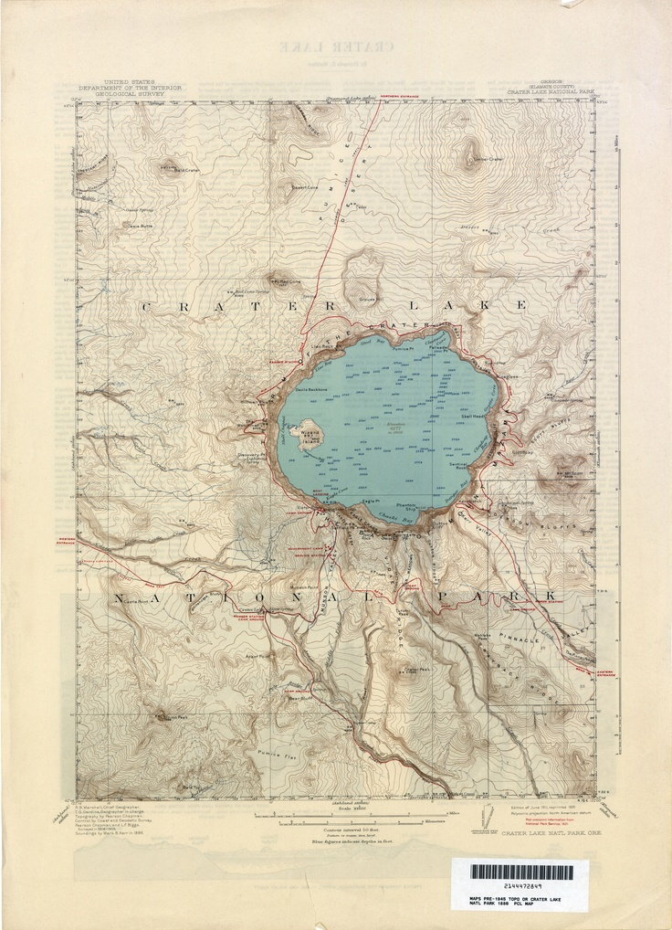 crater lakeBeats, Lakes Maps, Crater Lakes Oregon, Cartography, Vintage Maps, Caves, Lakes National, National Parks, Maps Maps