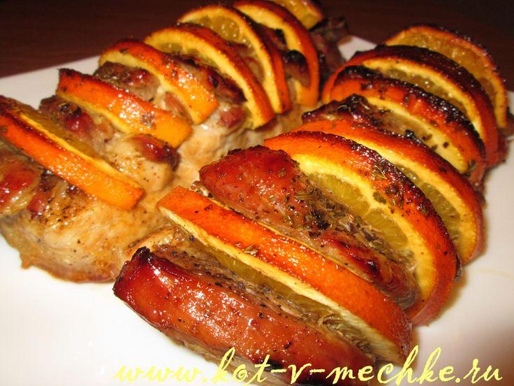 Мясо с апельсинами. Рецепт с фото.