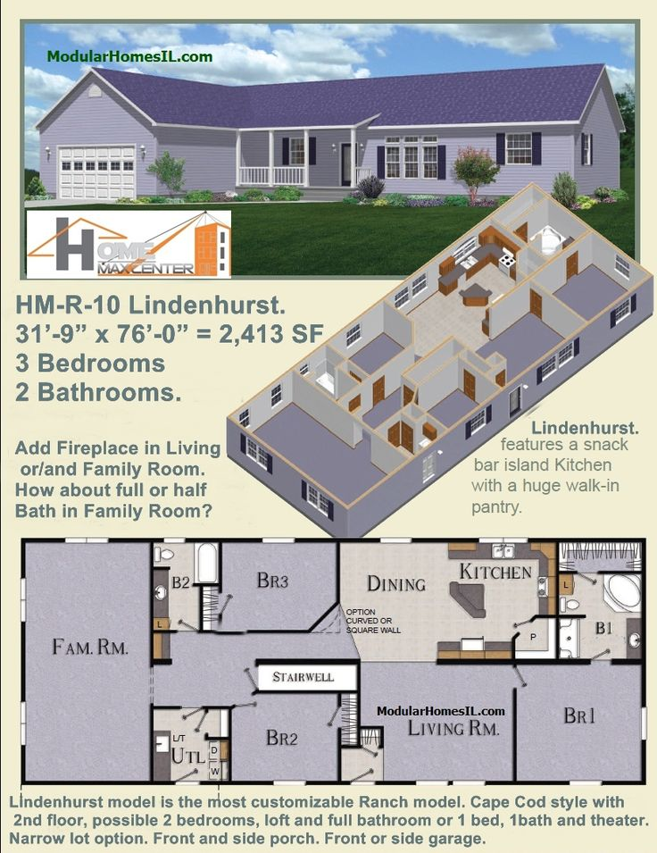 Hm R 10 Lindenhurst Ranch Modular Home Cape Cod Style With