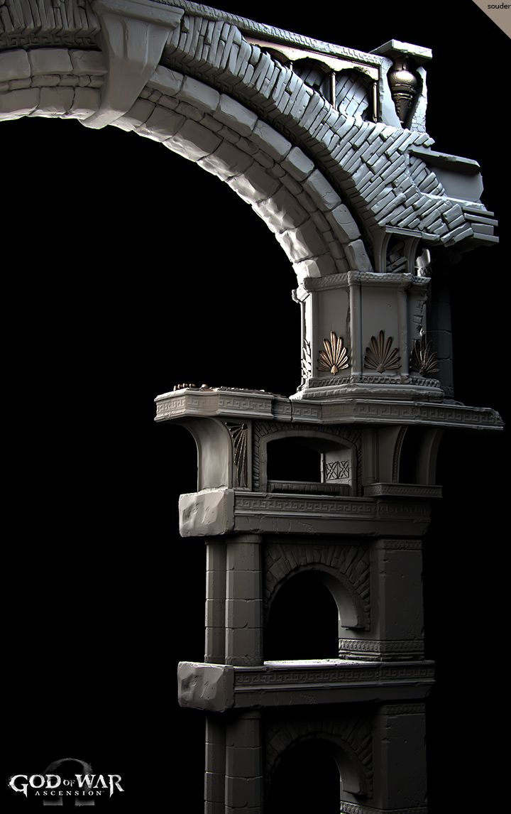 God of War Ascension- Highpoly Architecture