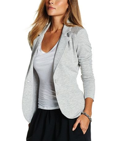 Look what I found on #zulily! Heather Gray Regina Blazer by TART Collections #zulilyfinds