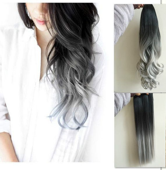 22 Full Head CURLY Clip in Dip dye Ombre Hair by CutieChocolate on Etsy - Looking for affordable hair extensions to refresh your hair look instantly? http://www.hairextensionsale.com/?source=autopin-pdnew