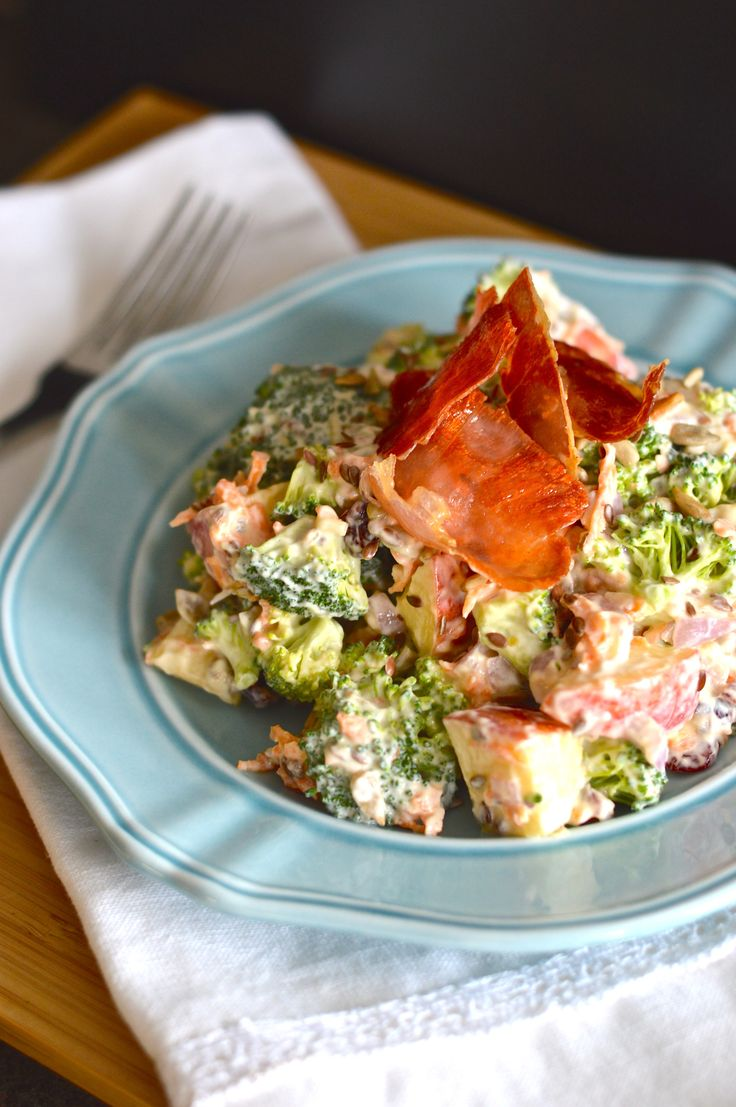 Broccoli apple salad. 358 kcal. Month 6 - week 3 meal plan.