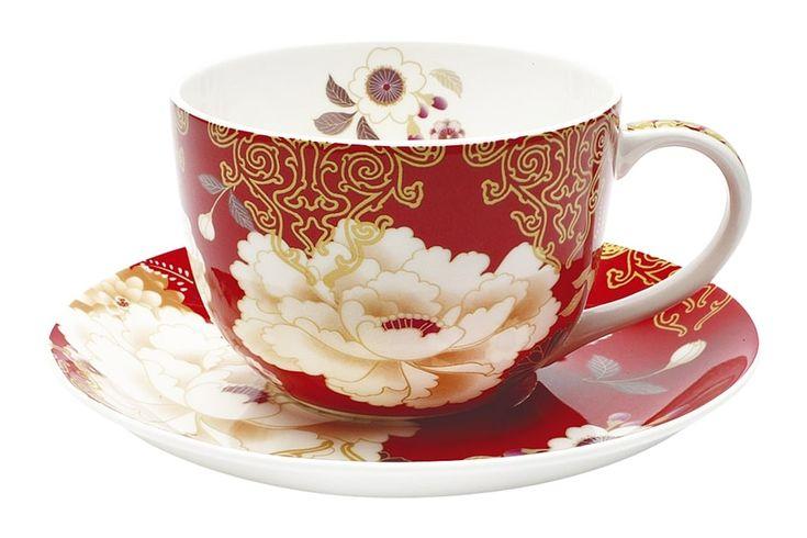 Чашка с блюдцем из костяного фарфора «Кимоно» (красный) в подарочной упаковке      Бренд: Maxwell & Williams (Австралия);   Страна производства: Китай;   Материал: костяной фарфор;   Объем чашки: 250 мл;          #bonechine #chine #diningset #teaset #костяной #фарфор #обеденный #сервиз #посуда  #обеденныйсервиз #чайныйсервиз #чайный  #чашка #кружка #набор #сервировка #cup #mug #set #serving #tea #чай