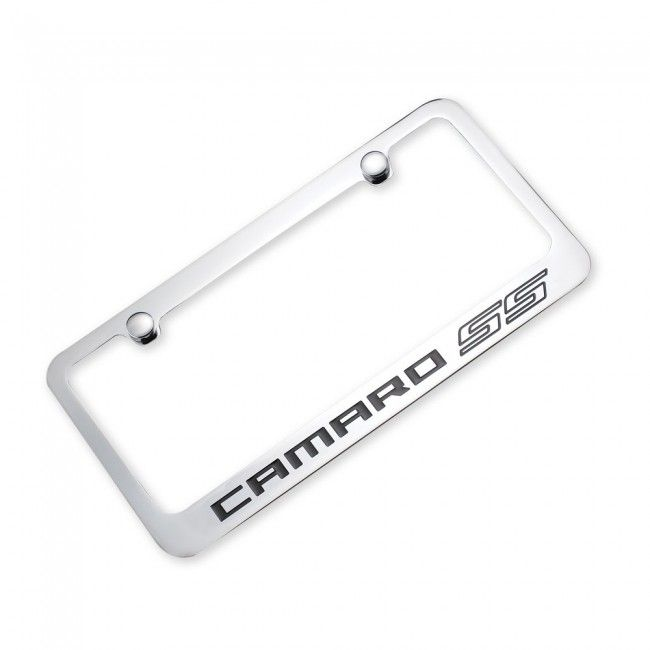 Camaro SS Outline License Plate Frame - Chrome. Add a little flash ...