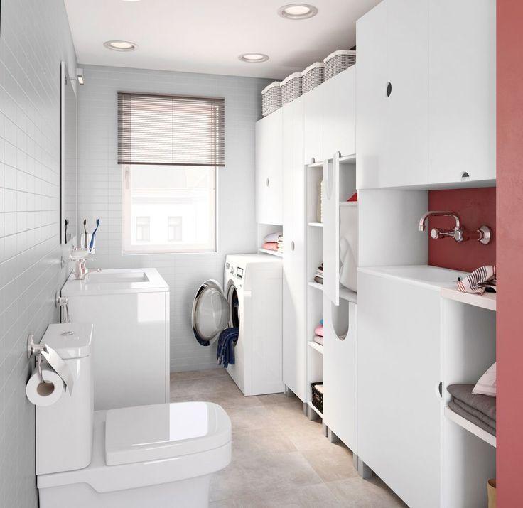 Pin de Laura en Lavandería | Cuartos de baños pequeños ...