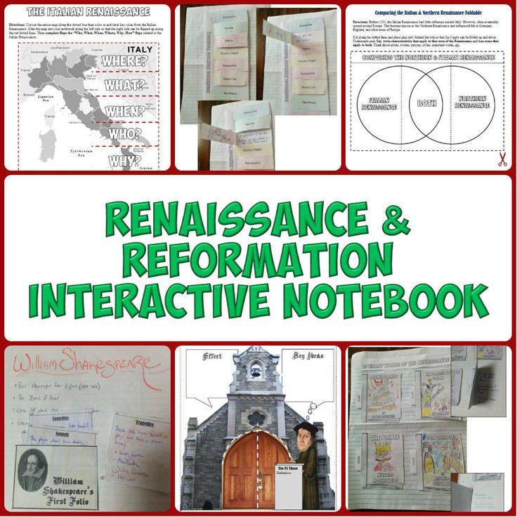 This download features 14 Interactive Notebook pages on the Renaissance and Reformation. These creative, engaging Interactive Notebook pages include graphic organizers, creative foldables, timelines, and more!