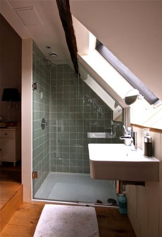 Good shower placement in the eaves. Charlie Luxton (charlieluxton.com).