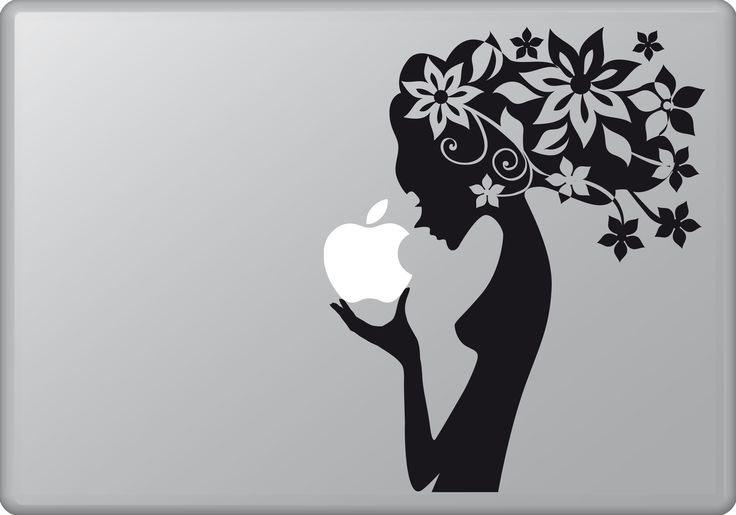 Woman and Flowers | MacBook sticker | #pasteit #sticker #stickers #macbook #apple #blackandwhite #art #drawing #custom #customize #diy #decoration #illustration #design  #decal #skin #cover #laptop #technology #pc #computer #beauty #peace #woman #flowers #inspiration